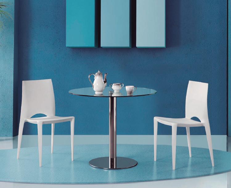 Mesa comedor redonda cristal transparente - Mesa comedor cristal redonda ...
