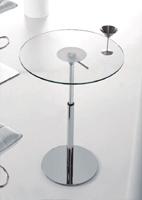 Mesa comedor redonda elevable cromada 9 - Estructura metal cromado, elevable