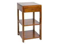 Mesa auxiliar con cajón - Mesa auxiliar con cajón color nogal