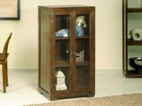 Vitrina de madera con dos puertas - Vitrina de madera con dos puertas con cristal