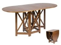 Mesa de comedor plegable - Mesa de comedor de madera plegable