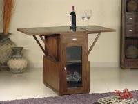 Mesa plegable con vitrina - Mesa de madera plegable con vitrina