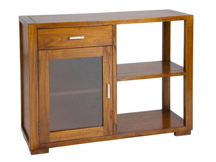 Mesa auxiliar con estante Mueble auxiliar bano madera
