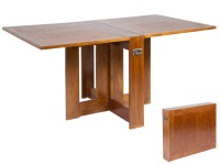 Mesa de madera plegable - Mesa de comedor de madera plegable