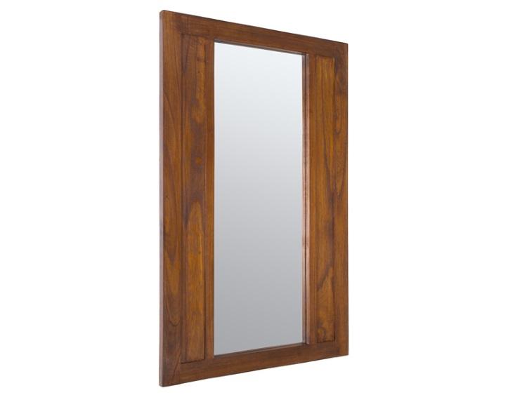 Espejo con marco de madera - Espejo de pared con marco de madera de acacia