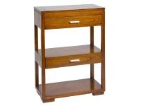 Mesa auxiliar con cajones - Mesa auxiliar con estante y cajones