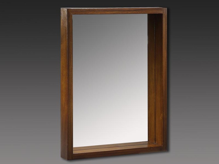 Espejo de pared de madera - Espejo de pared con marco de madera de acacia