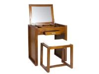 Mueble neceser con banqueta - Mueble de madera de mindi con banqueta