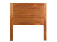 Cabezal de cama de madera de mindi - Cabezal de cama color roble