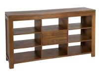 Aparador abierto de madera - Aparador de madera con diseño abierto