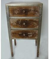 Mueble vintage con 3 cajones - Mueble de madera vintage con 3 cajones