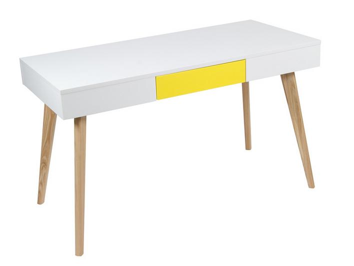 Mia home mesa de ordenador blanca con cajon sp for Mesa de ordenador blanca