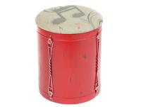 Puff nota rojo - Puff nota rojo fabricado en madera y metal