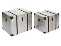 Juego 2 baules laminados en metal - Juego 2 baules laminados en metal