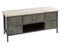 Mesa de TV Loft - Mesa de TV Loft, fabricado en metal y madera de cedro