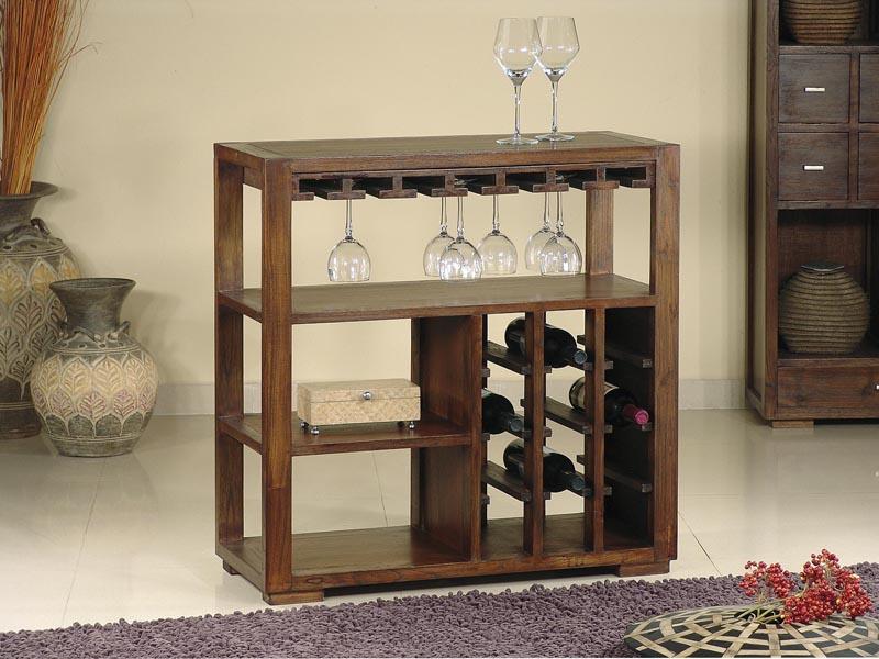 Bonito y pr ctico botellero estilo colonial - Muebles para poner botellas de vino ...