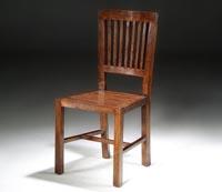 Silla comedor madera estilo Colonial - Silla comedor madera estilo Colonial respaldo de barrotes