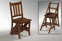 Práctica silla de madera convertible en escalera - Práctica silla de madera convertible en escalera