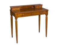 Mesa despacho estilo antiguo - 3 cajones, patas torneadas