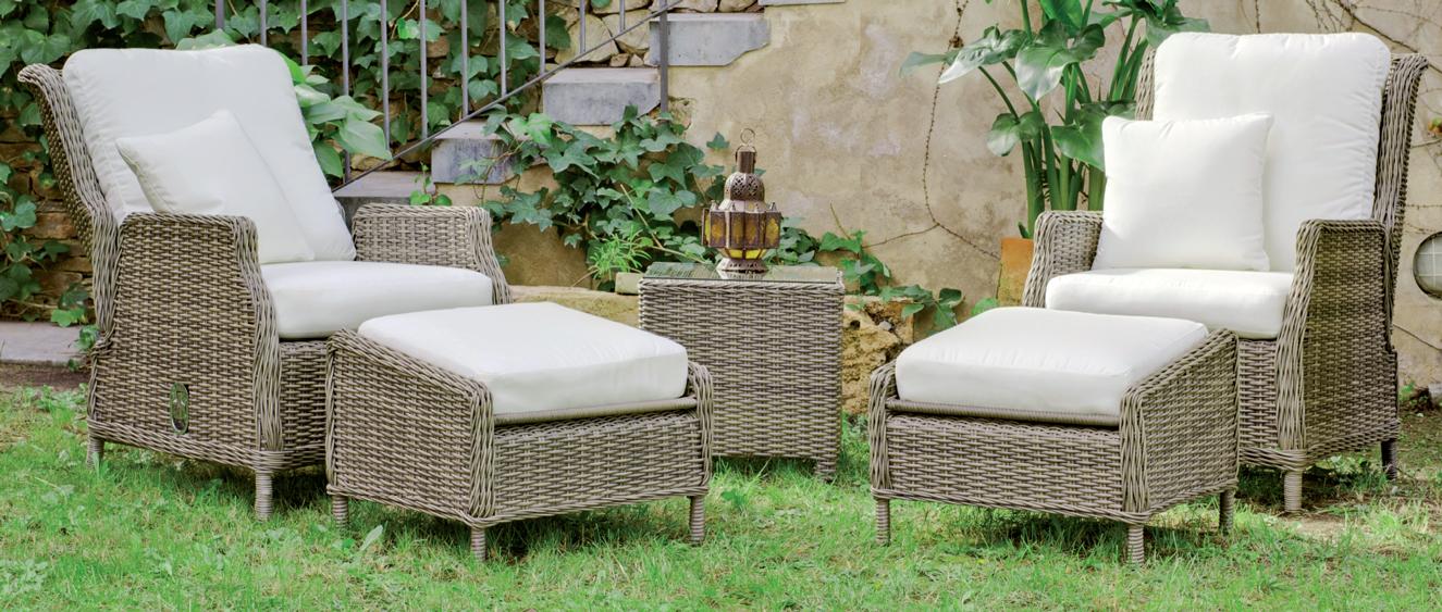Set de lujo sillones y mesa auxiliar exteriores 5 - Sillón multiposiciones.  Se muestran los precios individuales