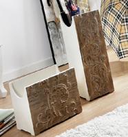 Paragueros y revisteros madera tallada