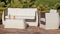 Set muebles de lujo para exteriores 16 - Sofás de tejido sintético trenzado artesanalmente