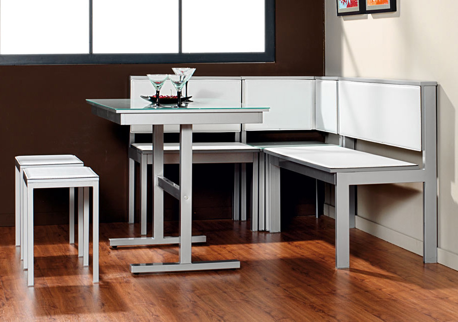 Bancos para cocina modernos excellent best bancos para for Mesa rinconera para cocina