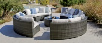 Set circular de sofás de exterior