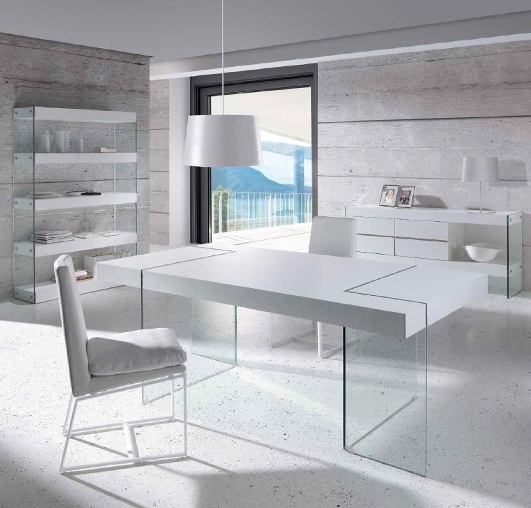 Mesa de comedor fija dise o moderno for Mesas y sillas para salon comedor