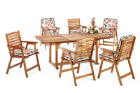 Set sillas y mesa madera modelo SANVIO - Set sillas y mesa madera modelo SANVIO