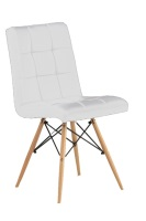 Silla de madera tapizada en similpiel - Silla de diseño, multiusos, base de madera, tapizada en similpiel.