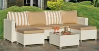 Juego modular sofás rattan exteriores 6 - Sets modulares de rattan para jardín