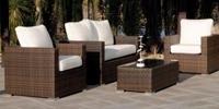Set de sofás para exteriores Casanova - Set de muebles de jardín Sofá 2 ó 3 plazas, dos sillones y mesa modelo CASANOVA