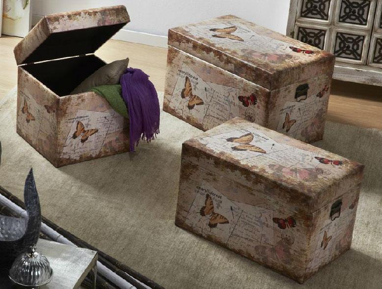 Baules arcones decorados - Decoracion con baules ...