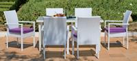 Set de sillas y mesa modelo EMIR - Set de sillones, mesa y cojines modelo EMIR