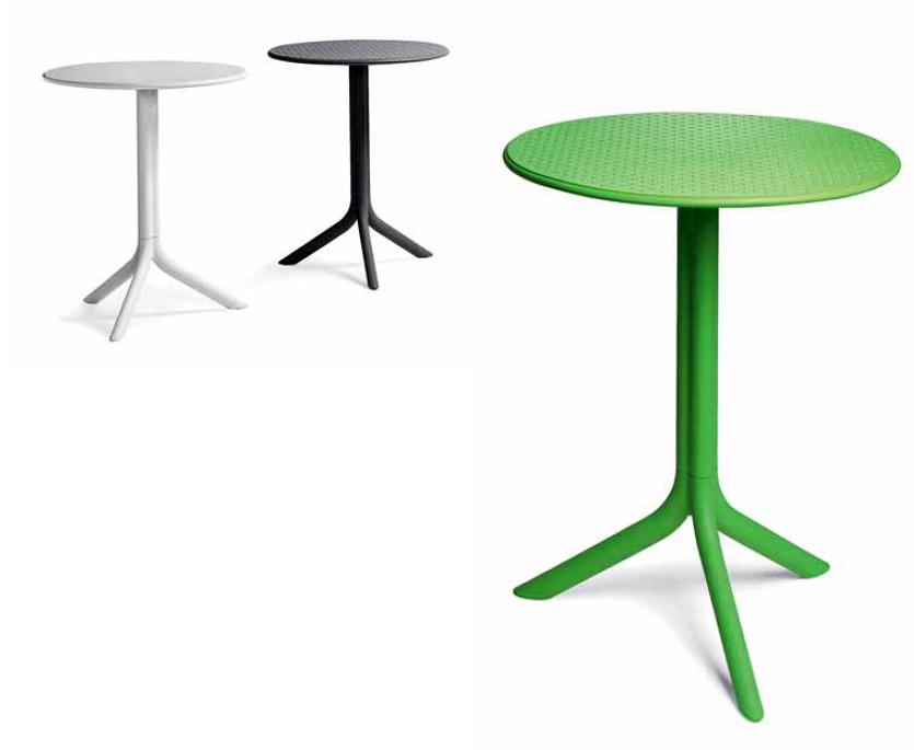 Comedor mesa redonda sillas resina polipropileno for Sillas para mesa redonda