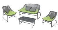 Piezas de conjunto exterior modelo siesta - Conjunto de sofá de resina para exterior