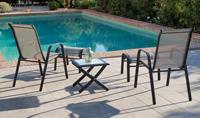 Set sillas y mesa de acero modelo Sulam - Set sillas y mesa de acero para exteriores