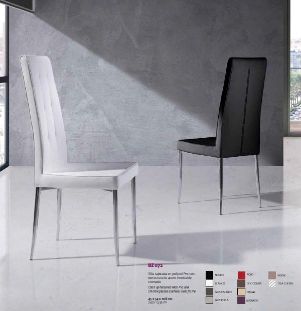 oferta silla alta moderna patas cromadas