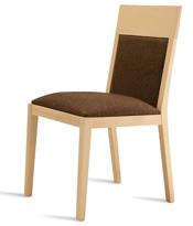 Silla de comedor con respaldo acolchado - Silla de comedor con respaldo de madera acolchado