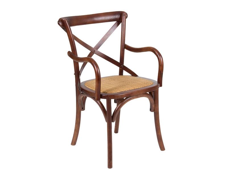 Elegante silla de comedor de madera con asiento acolchado for Sillas de comedor elegantes