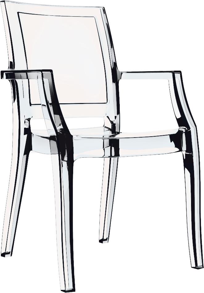 Comprar silla transparente for Sillas metacrilato transparente