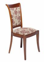 Sillón de comedor tapizado 18 - Silla de madera para comedor estilo antiguo