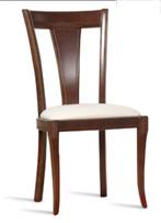 Sillón de comedor tapizado 19 - Silla de madera para comedor