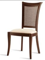 Silla de comedor tapizada 24 - Silla de madera para comedor elegante