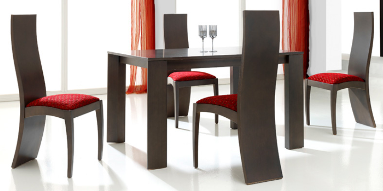 Sillas madera haya for Sillas de comedor modernas en madera