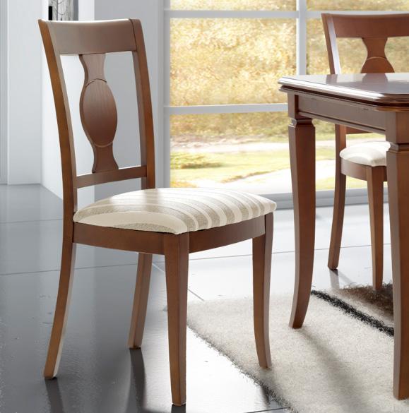 Sillas tapizadas para comedor for Sillas clasicas modernas