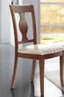 Silla de comedor tapizada 27 - Silla de madera tapizada para comedor