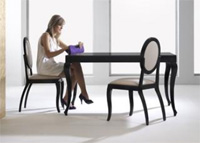 Mesa de madera extensible 6 - Mesa de comedor rectangular extensible de madera.