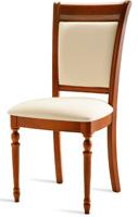 Sillón de comedor tapizado 17 - Silla de madera para comedor estilo clásico